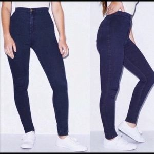 American Apparel Dark Wash Pull On Easy Jeans S